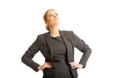 Confident businesswoman standing Stock Photos