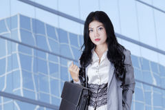 Confident businesswoman standing outdoors Royalty Free Stock Images