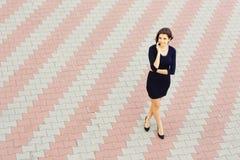 Confident businesswoman talking on phone Stock Photos