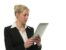 Confident businesswoman using tablet computer Royalty Free Stock Photography