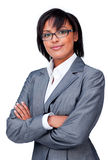 Confident businesswoman wearing glasses Royalty Free Stock Photos