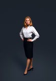 Confident businesswoman wearing white shirt Royalty Free Stock Photos