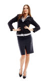Confident businesswoman on white background Royalty Free Stock Photo