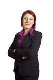 Confident Businesswoman On A White Background Stock Image