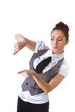 Confident Businesswoman On A White Background Stock Photos