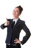 Confident Businesswoman On A White Background Royalty Free Stock Photos