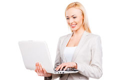 Confident businesswoman at work. Royalty Free Stock Images