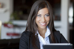 Confident Businesswoman Working At Home Royalty Free Stock Photos
