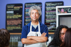 Confident Cafe Owner Royalty Free Stock Images