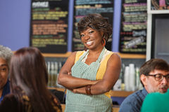 Confident Cafe Worker Royalty Free Stock Photo