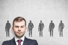 Confident candidate for a job Royalty Free Stock Image
