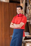 Confident Carpenter With Arms Crossed Royalty Free Stock Photo