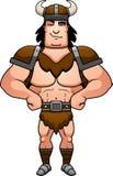 Confident Cartoon Barbarian Stock Photography