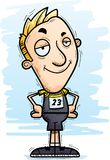 Confident Cartoon Track Athlete. A cartoon illustration of a man track and field athlete looking confident vector illustration