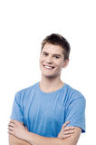 Confident casual man with folded arms Royalty Free Stock Images
