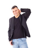 Confident casual man in a suit Royalty Free Stock Photos