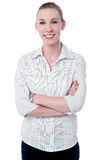 Confident casual smiling business woman Royalty Free Stock Photography