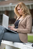 Confident caucasian business woman Stock Image