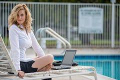 Confident caucasian business woman Stock Images