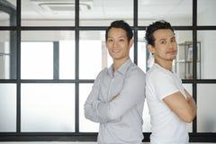 Confident Asian entrepreneurs royalty free stock photos