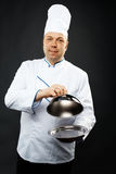 Confident chef stock image