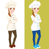 Confident Chef Woman Standing Stock Image