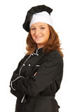 Confident chef woman Royalty Free Stock Photography