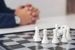 Confident Chess leadership and success concept, chess save the s Stock Photos