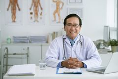 Confident chief physician Stock Photo