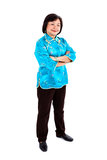 Confident Chinese Woman smiling, full body Royalty Free Stock Images
