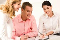 Confident colleagues Stock Photo