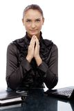 Confident concentrating businesswoman Stock Image
