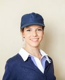 Confident Concession Worker At Cinema Stock Photos