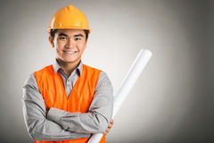 Confident constructor worker Stock Images