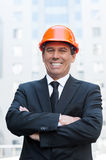 Confident contractor. Stock Images