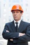 Confident contractor. Stock Photos