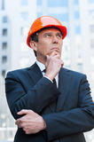 Confident contractor. Royalty Free Stock Photo