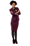 Confident corporate woman with folded arms Royalty Free Stock Image