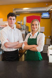Confident coworkers in bakery Stock Image