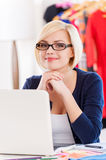 Confident and creative businesswoman. Royalty Free Stock Image
