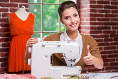 Confident and creative fashion designer. Stock Image