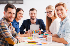 Confident and creative team. Royalty Free Stock Photo