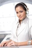 Confident customer care representative Royalty Free Stock Photo