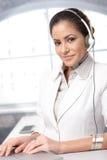 Confident customer care representative royalty free stock photo
