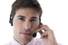 Confident Customer Service Representative Stock Photo