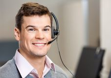 Confident Customer Service Representative In Stock Images