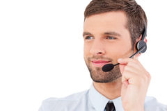 Confident customer service representative. Stock Photography