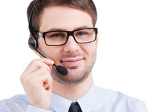 Confident customer service representative. Royalty Free Stock Photography
