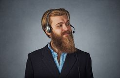 Confident customer service representative in profile royalty free stock image