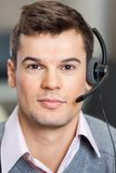 Confident Customer Service Representative Wearing Royalty Free Stock Photo